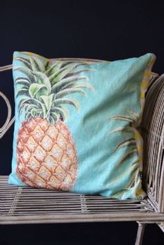 Pina Colada Pineapple Cushion
