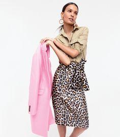 Animal print + Pink + Tan