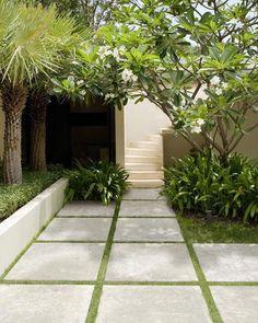 Modern Landscape Design, Garden Landscape Design, Small Garden Design, Modern Design, Side Yard Landscaping, Modern Landscaping, Landscaping Ideas, Landscaping Borders, Mailbox Landscaping
