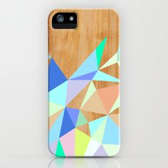 Wooden Geo Aqua Galaxy S4 Case by House Of Jennifer - $35.00