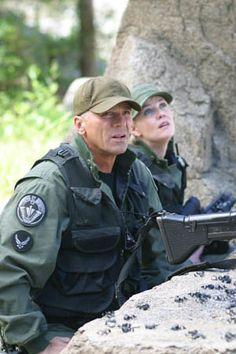 Richard Dean Anderson and Amanda Tapping