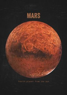 MARS HUBBLE SPACE IMAGE poster 24X36 the WAR PLANET orange 3 VIEWS detailed