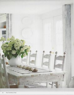 White Farmhouse Table The Art Of Simple