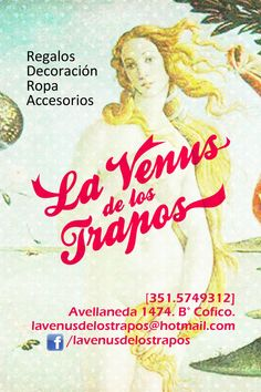 Flyer La Venus de los Trapos.  2012.