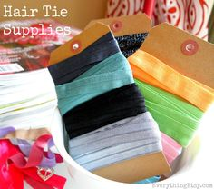 Elastic Knot Hair Tie Tutorial.
