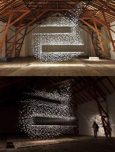 artful feather installations