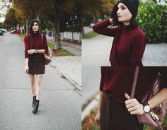 Angela Doe - New Look Pullover, New Look Skirt, New Look Boots, Michael Kors Backpack - A teeny-tiny bit of oktoberfest
