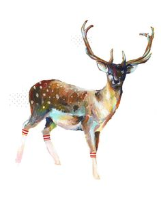 """Deer in Gym Socks"""" Limited Edition Print - love this and bought it :)"""