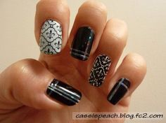 Nail stamping with MoYou London Tourist 07 plate. #moyoulondon #nails #nailart #nailstamping - cassispeach.blog.fc2.com