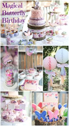 A magical woodland butterfly girl birthday
