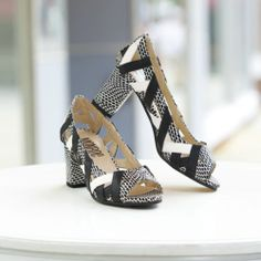 Snake & Straps Shoe from Monroe and Main.   Put a little power in your glide.