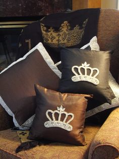 Crown Bling Pillows! Fab! www.crownchic.com