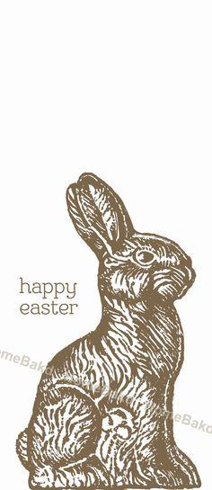 Chocolate Easter Bunny door hanger