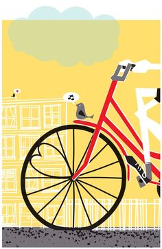 love this print so much that I bought it for Luke, b/c he's always riding his bike home to me!