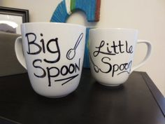 Big Spoon /  Little Spoon Couples Coffee by TheSignificantOtter, $16.00