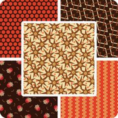 Marcus Fabrics Retro Geo Fat Quarters 12 Fabrics