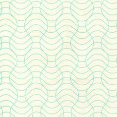 Rashida Coleman Hale - Washi - Washi Waves in Cream and Aqua