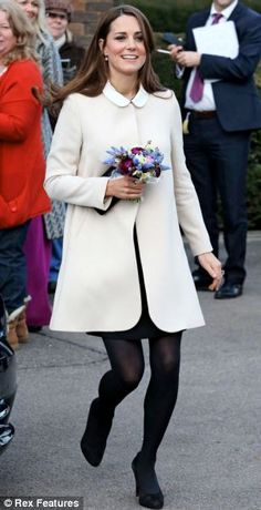 Kate Middleton- I am literally obsessed with this coat. The collar is part of her shirt underneath, and the coat is like 600 (the cheapest I could find) and is authentic sheep skin. OBSESSED.