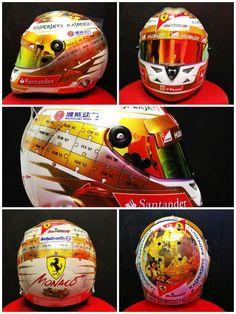 Fernando Alonso's helmet for the 2013 Monaco GP