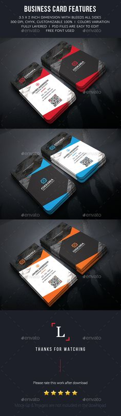 Corporate Business Cards Template PSD #design Download: http://graphicriver.net/item/corporate-business-cards/13615336?ref=ksioks