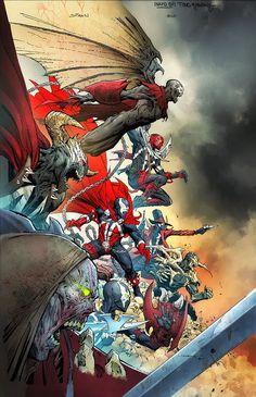 Todd McFarlane Announces Spawn's Universe, Launching 4 New Comics Comic Book Covers, Comic Book Heroes, Comic Books Art, Comic Art, Spawn Comics, Marvel Dc Comics, Marvel Heroes, Rogue Comics, Todd Mcfarlane