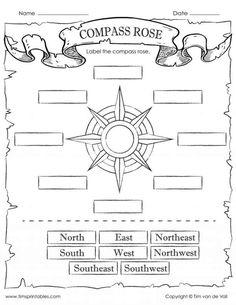 Reading A Compass Worksheet .