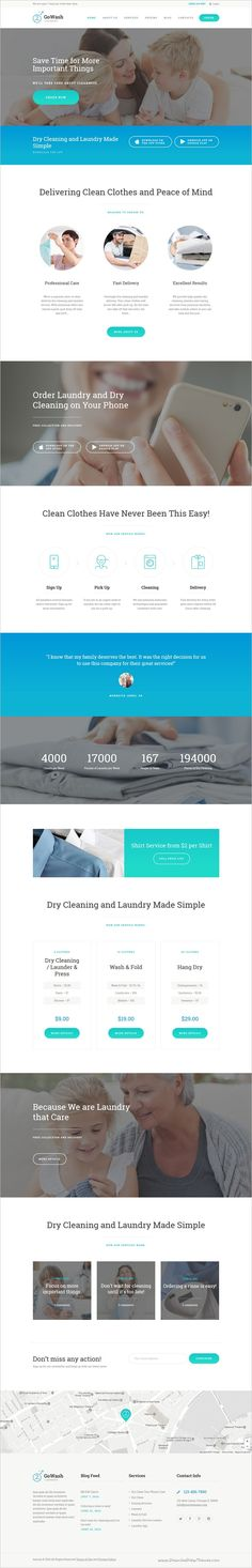 GoWash is a modern and functional design responsive #WordPress theme created for #Laundry and Dry Cleaning #Service Business website download now➩ https://themeforest.net/item/gowash-dry-cleaning-laundry-service-wordpress-theme/17050287?ref=Datasata