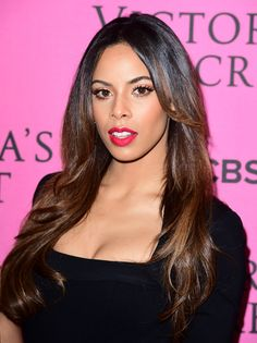 Rochelle Humes at the 2014 Victoria's Secret Fashion Show after-party. http://beautyeditor.ca/2014/12/05/victorias-secret-after-party-2014