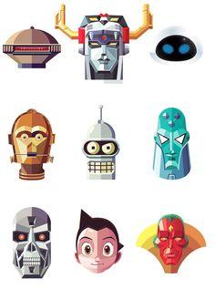 Iconic Robots and Weapons – Illustrations de Daniel Nyari