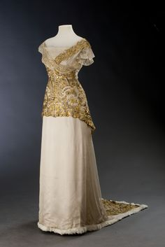 """fripperiesandfobs: """" Evening dress ca. 1913 From the Museum of Decorative Arts in Prague """""""