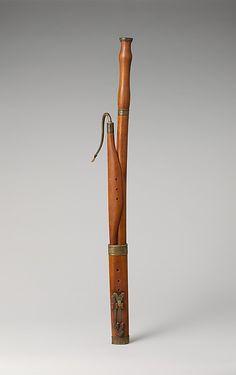 1750-1770 German (Butzbach) Bassoon in C at the Metropolitan Museum of Art, New York
