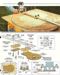 Router Circle Cutting Jig - Router Tips, Jigs and Fixtures   WoodArchivist.com