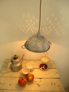 Colander lamp by capitulumvii