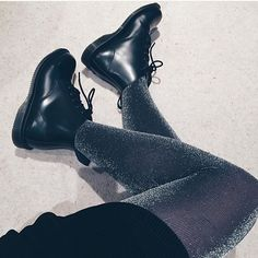 Docs of the day shared by @frankiestoner_ Wearing #DrMartens Emmeline Boots with a bit of sparkle. How do you wear yours? #drmartenstyle by drmartensofficial