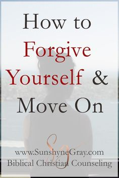 Learn how to forgive yourself and move on past your mistakes. Self forgiveness is necessary to live in the freedom God purposes for you! Take Every Thought Captive, Forgive And Forget, Forgiving Yourself, S Word, Christian Life, Self Improvement, Self Help, How To Find Out, Prayers