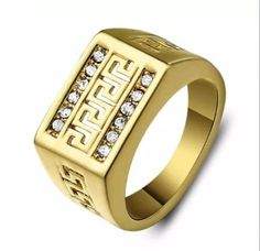 Vintage 18K Gold Plated Great Wall Ring