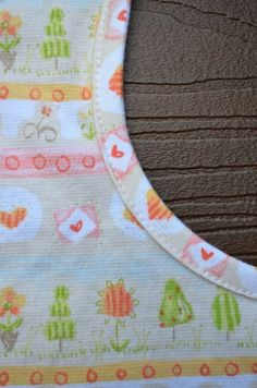 Binding with knit tutorial...great for the neck bands on doll clothes!