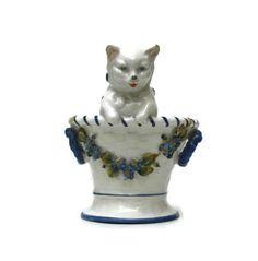 Antique Porcelain Cat Figurine. Porcelain Cat от LeBonheurDuJour