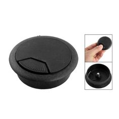 Hot New Hot Sale Black Computer Desk Table Grommet Cable Wire Hole Plastic  Cover
