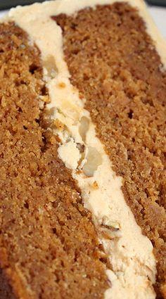 Pumpkin Cake with Butterscotch Filling