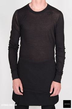 Rick Owens BASIC LONG SLEEVES T - black 168 € | Seven Shop