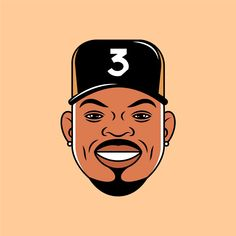 Face Illustration, Digital Illustration, Drawing Sketches, Art Drawings, Hip Hop Art, Chance The Rapper, Vector Portrait, Daily Drawing, Photoshop Design