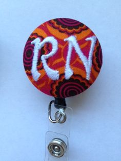 Personalized ID Badge holder with retractable by beckyhortondesign, $7.00