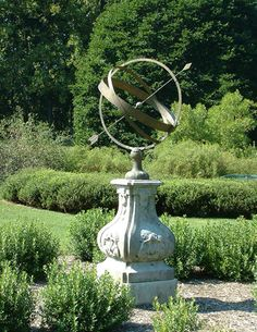 Armillary Sphere! We were asked to reproduce the original, which was damaged, and create this reproduction.