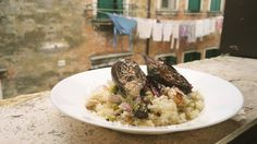 Venetian risotto with grilled artychokes