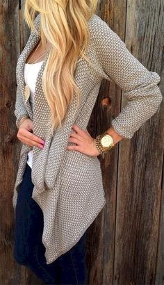Awesome 80+ Fall Outfit Ideas with Cardigans for Women https://bitecloth.com/2018/01/17/80-fall-outfit-ideas-cardigans-women/ #womenworkoutfits