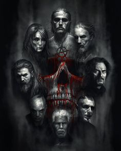 sons of anarchy drawings | Sons of Anarchy Tribute by AlexRuizArt