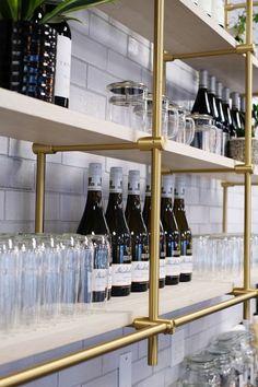 Dot x Ott Restaurant R Cafe, Cafe Bar, Bar Restaurant, Restaurant Design, Studio House, Home Bar Rooms, Bar Shelves, Joinery Details, Fireclay Tile