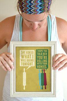 Funny Kitchen Art Print Baking poster Kitchen by SmartyPantsStudio, $18.00