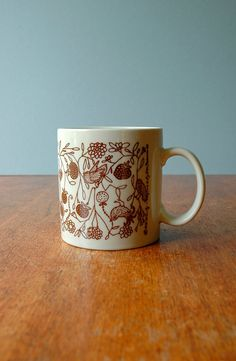 vintage taylor ng birds and berries mug
